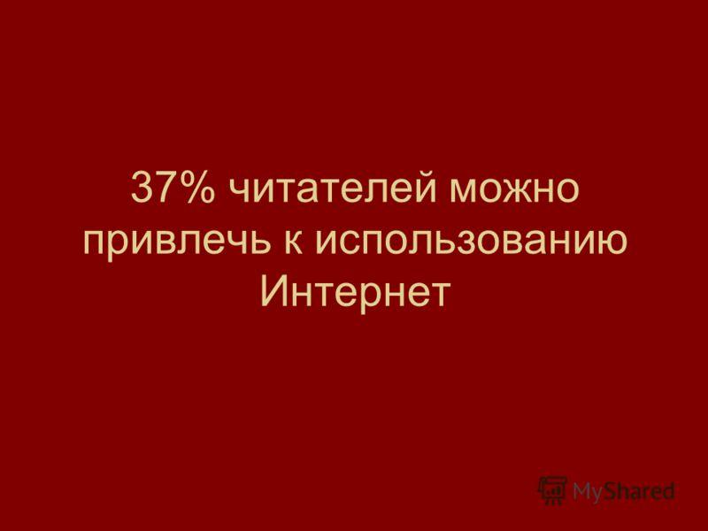 37% читателей можно привлечь к использованию Интернет