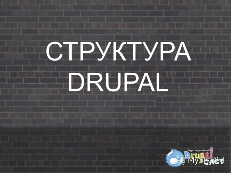 СТРУКТУРА DRUPAL
