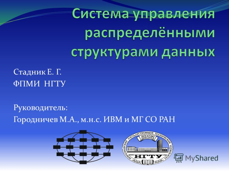 Стадник Е. Г. ФПМИ НГТУ Руководитель: Городничев М.А., м.н.с. ИВМ и МГ СО РАН