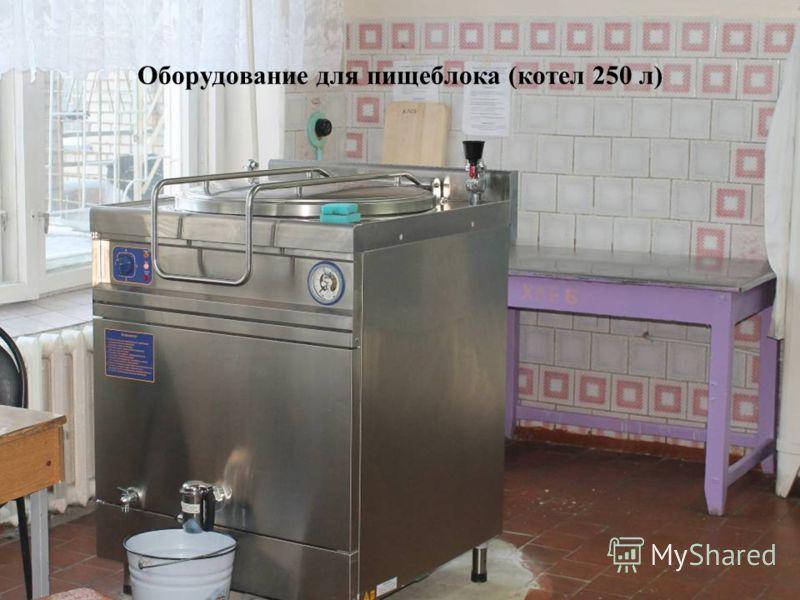 Оборудование для пищеблока (котел 250 л)