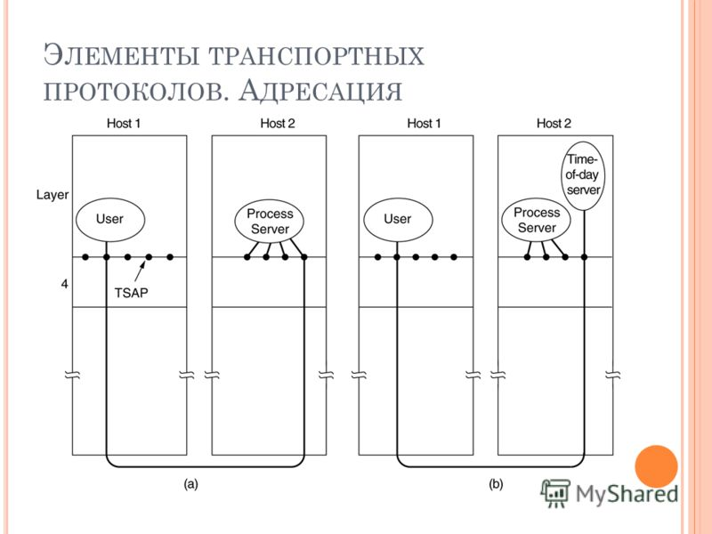 Э ЛЕМЕНТЫ ТРАНСПОРТНЫХ ПРОТОКОЛОВ. А ДРЕСАЦИЯ