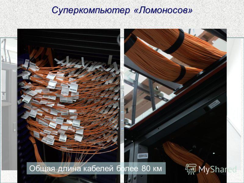 Суперкомпьютер «Ломоносов» Общая длина кабелей более 80 км