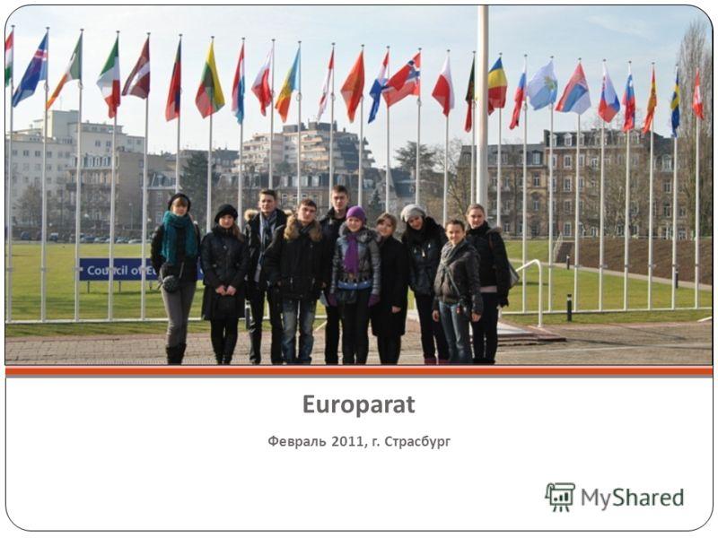 Europarat Февраль 2011, г. Страсбург
