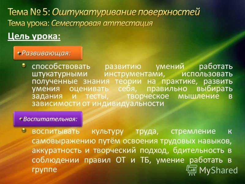 Разработала: мастер п/о Лаврушкина А.Н. Консультант: старший мастер Шишкина Л.Н. ВПУ 40 г. Алчевска