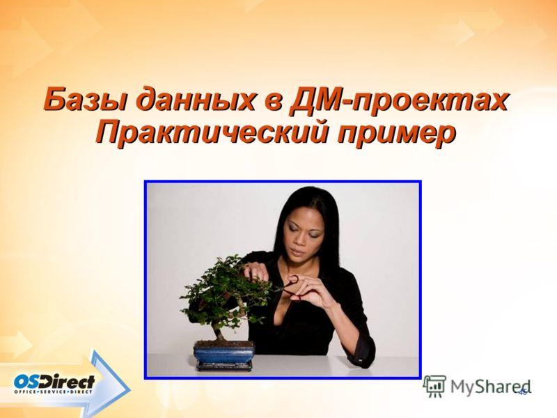 - 45 - Базы данных в ДМ-проектах Практический пример