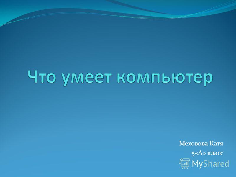 Меховова Катя 5«А» класс