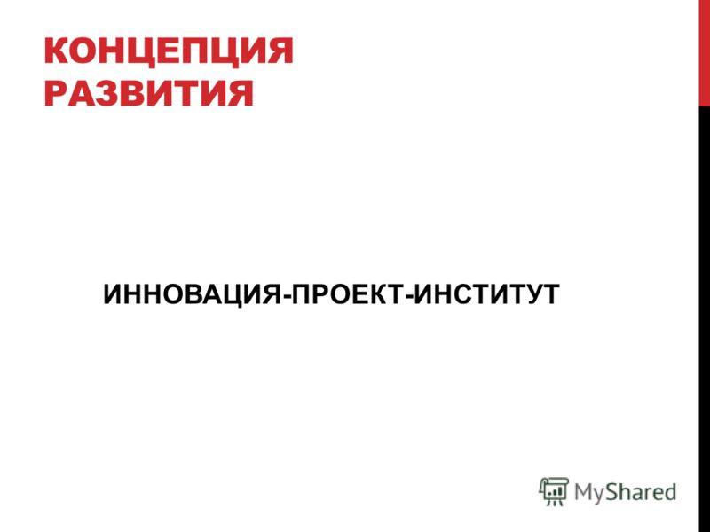 КОНЦЕПЦИЯ РАЗВИТИЯ ИННОВАЦИЯ-ПРОЕКТ-ИНСТИТУТ