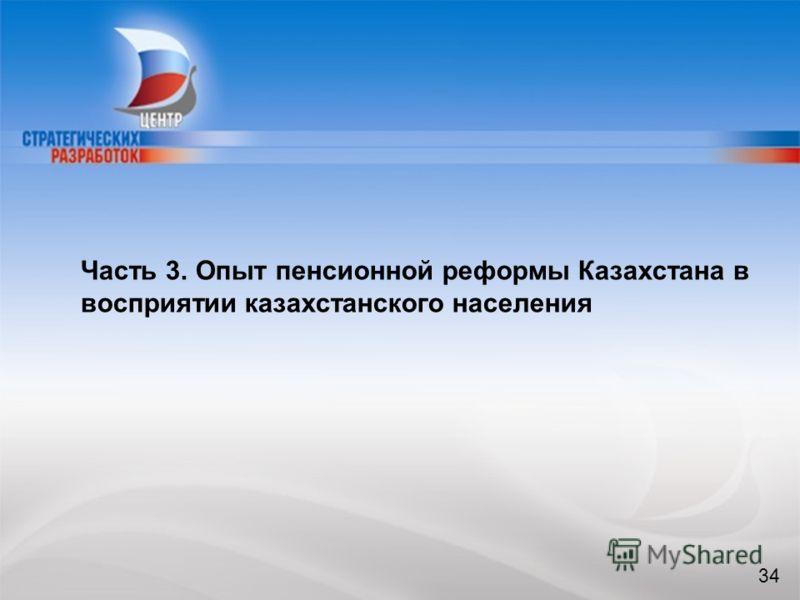 34 Часть 3. Опыт пенсионной реформы Казахстана в восприятии казахстанского населения 34