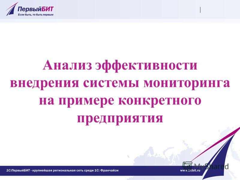 Анализ эффективности внедрения системы мониторинга на примере конкретного предприятия