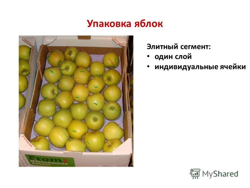 Упаковка яблок Элитный сегмент: один слой индивидуальные ячейки