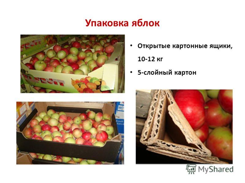 Упаковка яблок Открытые картонные ящики, 10-12 кг 5-слойный картон