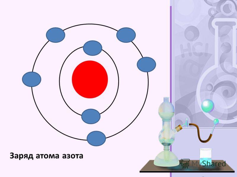 Заряд атома азота