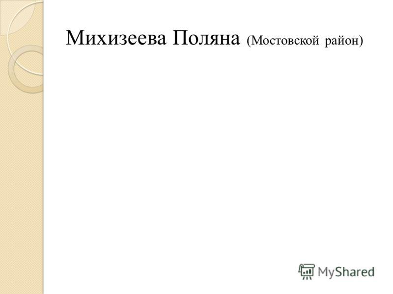 Михизеева Поляна (Мостовской район)