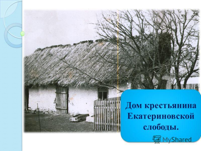 Дом крестьянина Екатериновской слободы.