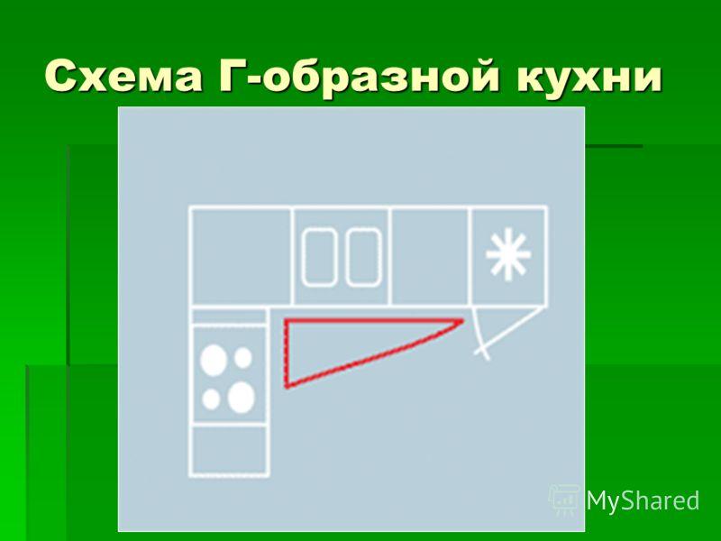 Схема Г-образной кухни