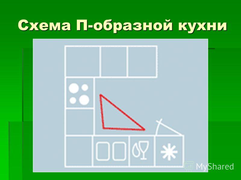 Схема П-образной кухни