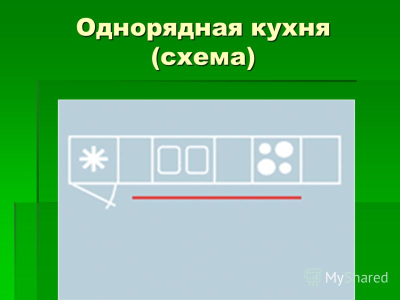 Однорядная кухня (схема)