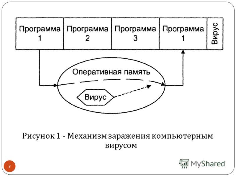 Рисунок 1 - Механизм заражения компьютерным вирусом 7