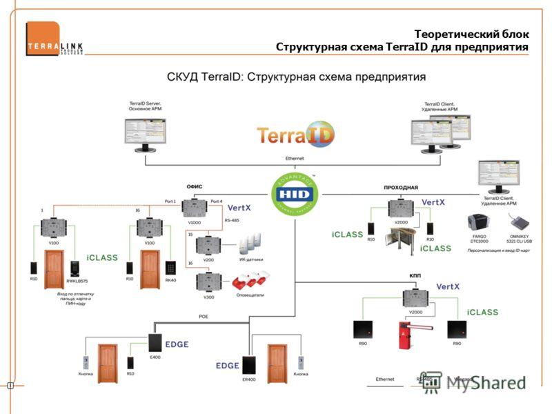 Теоретический блок Структурная схема TerraID для предприятия