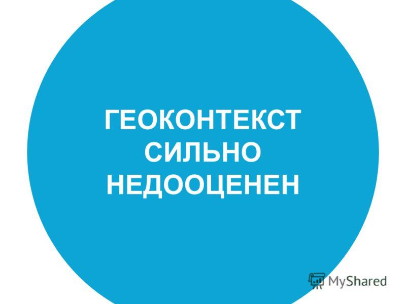 ГЕОКОНТЕКСТ СИЛЬНО НЕДООЦЕНЕН