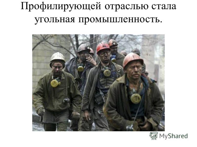 Профилирующей отраслью стала угольная промышленность.