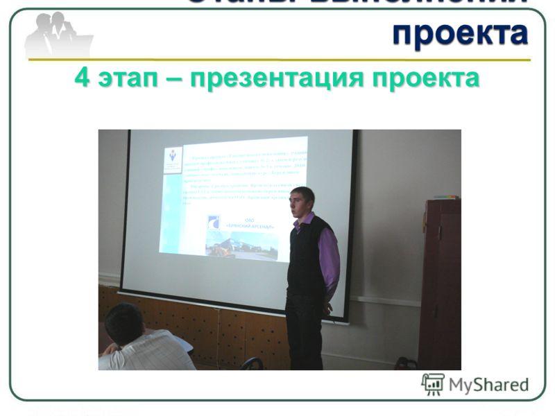 4 этап – презентация проекта