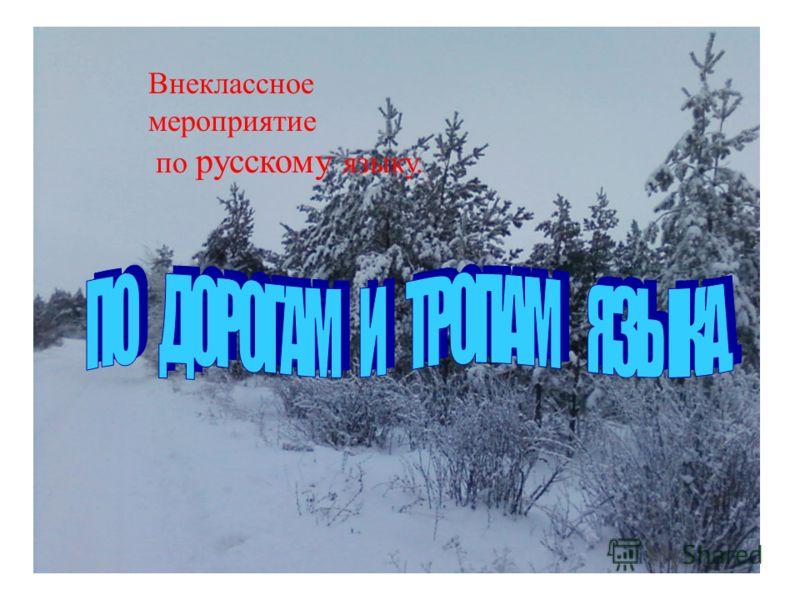 Внеклассное мероприятие по русскому языку.