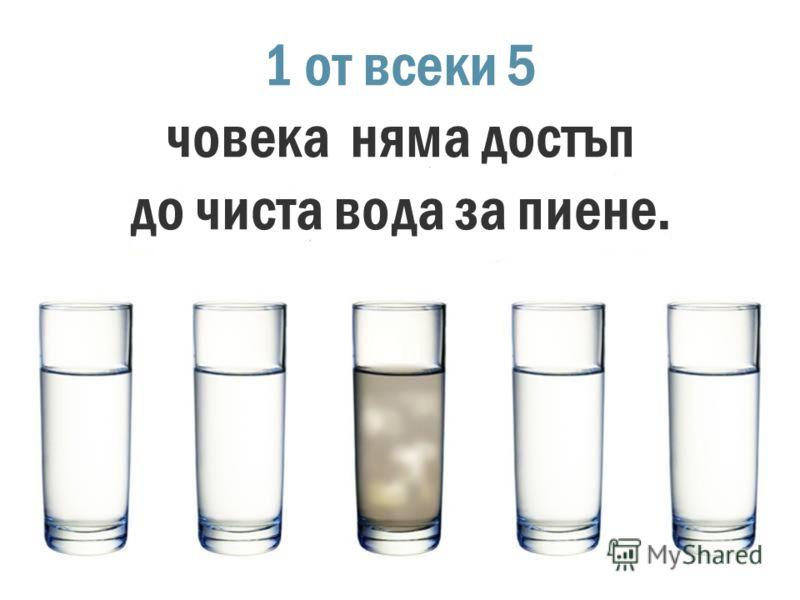 Един от трима няма достъп до вода за хигиенни нужди.