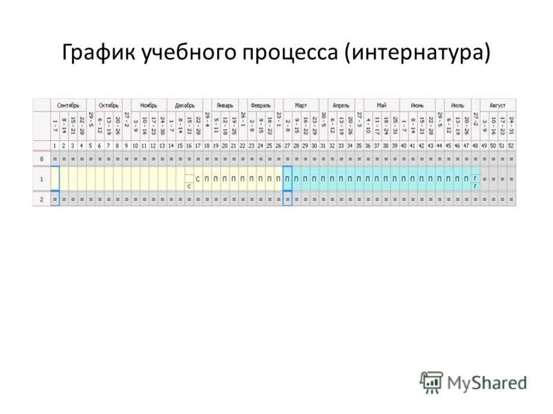 График учебного процесса (интернатура)