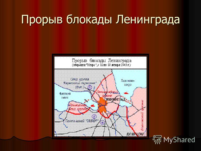 Прорыв блокады Ленинграда