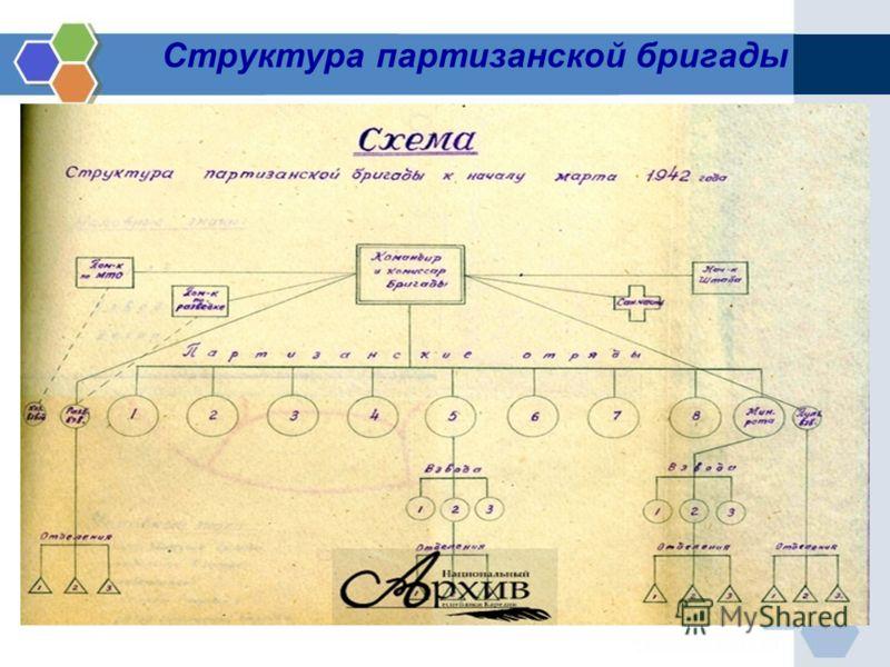 Структура партизанской бригады