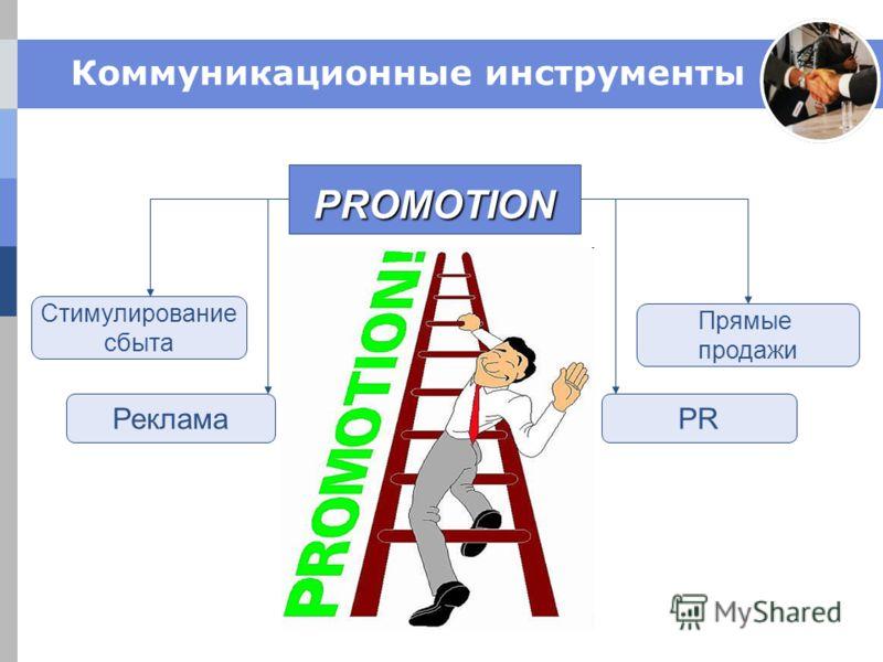 Коммуникационные инструменты PROMOTION РекламаPR Стимулирование сбыта Прямые продажи