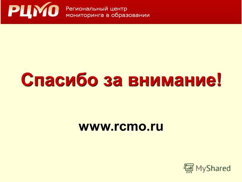 Спасибо за внимание! www.rcmo.ru
