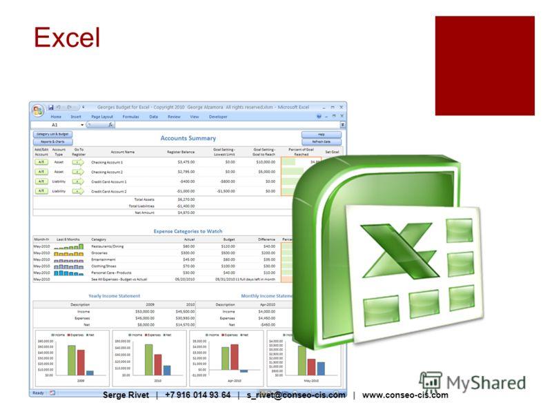 Excel Serge Rivet | +7 916 014 93 64 | s_rivet@conseo-cis.com | www.conseo-cis.com