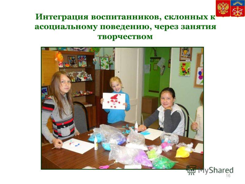 Интеграция воспитанников, склонных к асоциальному поведению, через занятия творчеством 16
