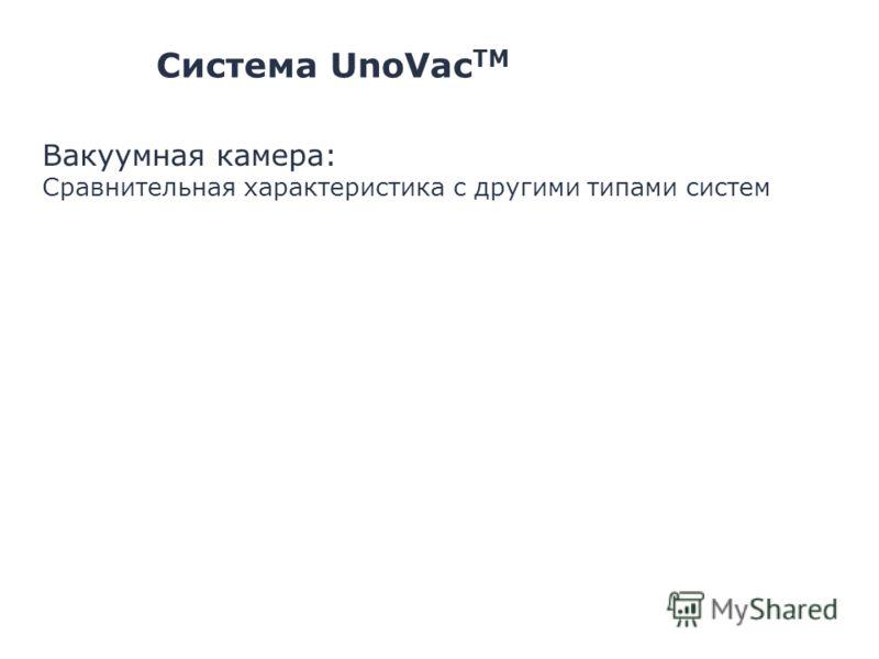 Система UnoVac TM Вакуумная камера: Сравнительная характеристика с другими типами систем
