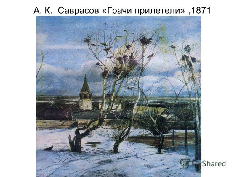 А. К. Саврасов «Грачи прилетели»,1871