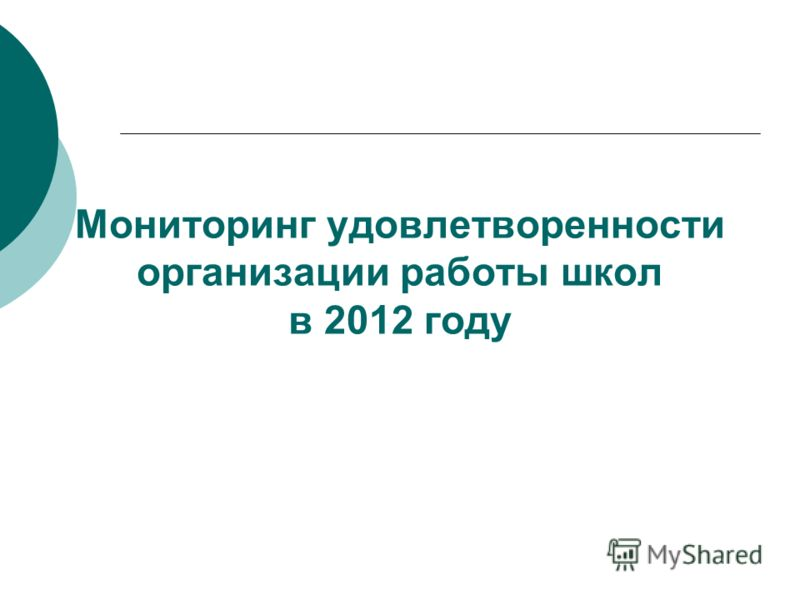 Мониторинг удовлетворенности организации работы школ в 2012 году