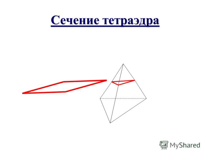 Повторение Какие фигуры могут быть сечения тетраэдра, параллелепипеда? Какое свойство учитывается при построении сечения параллелепипеда?