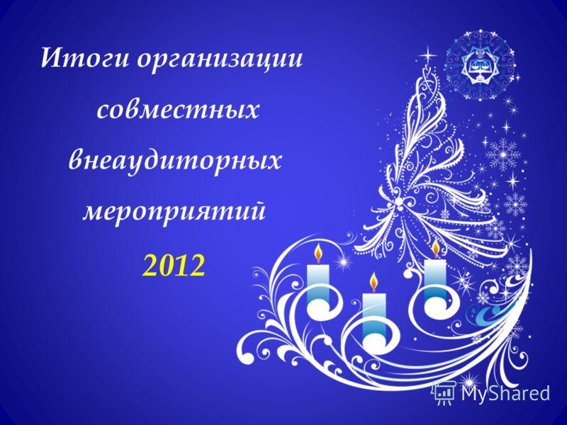 Итоги организации совместных внеаудиторных мероприятий 2012