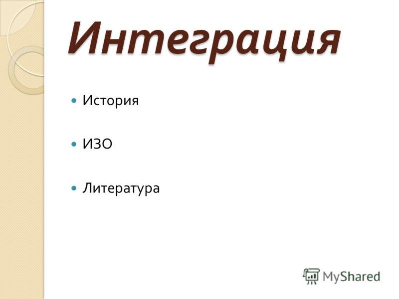 Интеграция История ИЗО Литература