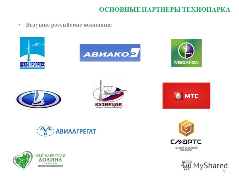 8 Ведущие российские компании: ОСНОВНЫЕ ПАРТНЕРЫ ТЕХНОПАРКА