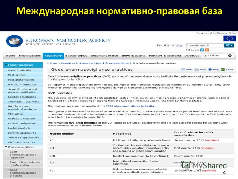 Международная нормативно-правовая база 4