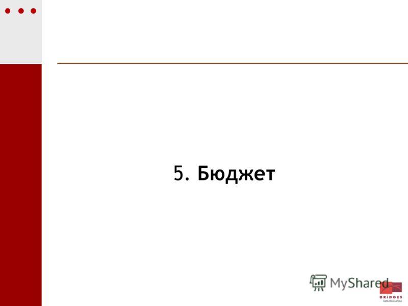 5. Бюджет