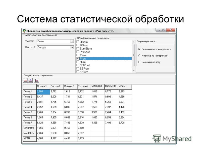 Система статистической обработки