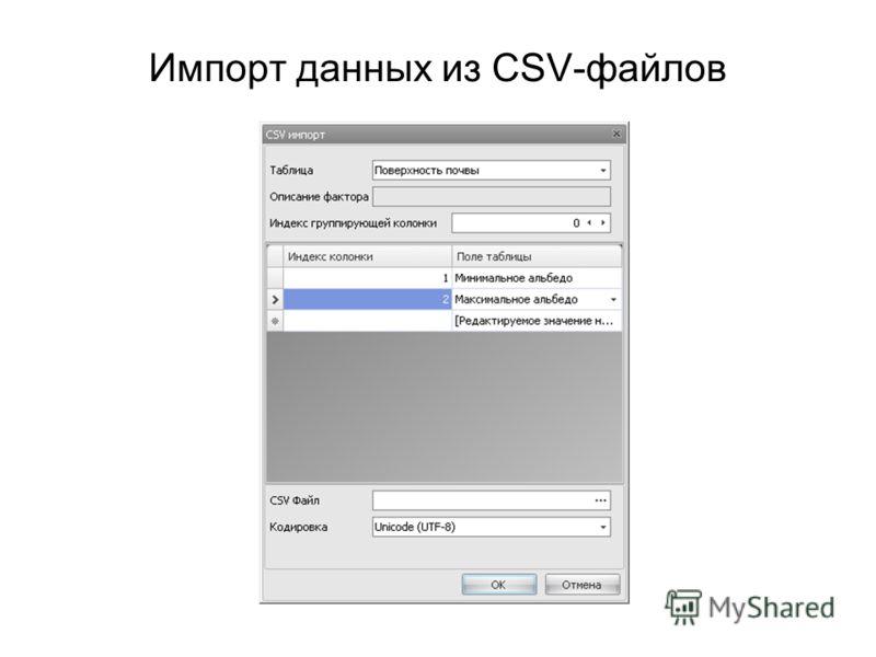 Импорт данных из CSV-файлов