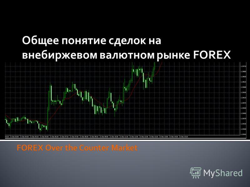 Общее понятие сделок на внебиржевом валютном рынке FOREX