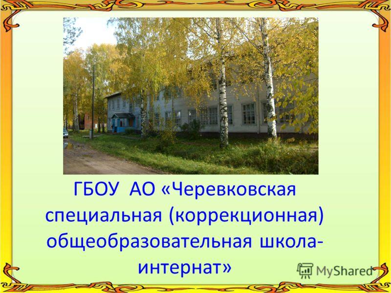 ГБОУ АО «Черевковская специальная (коррекционная) общеобразовательная школа- интернат»
