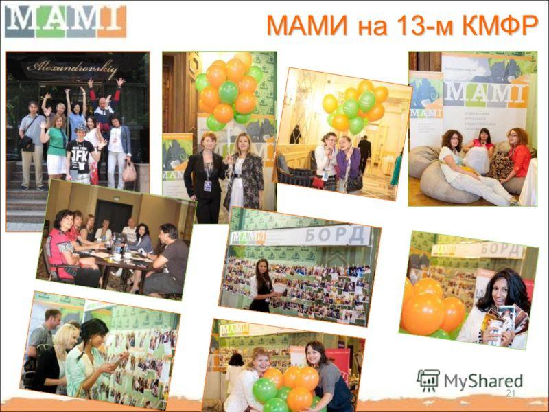 МАМИ на 13-м КМФР 21