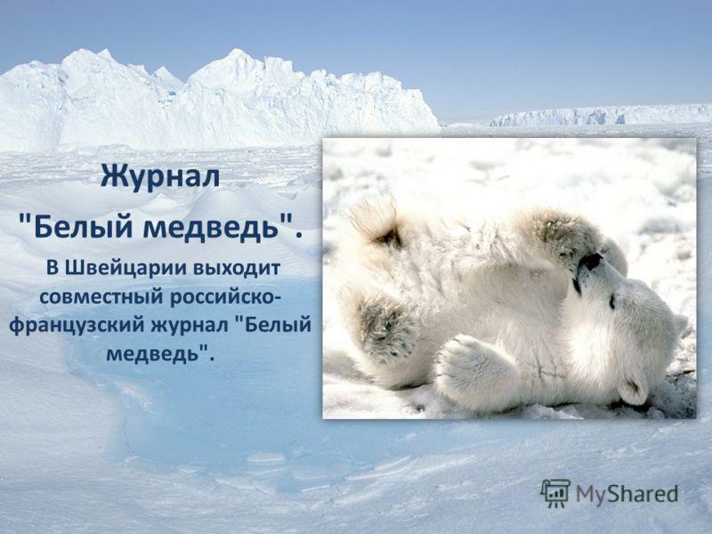 Журнал Белый медведь. В Швейцарии выходит совместный российско- французский журнал Белый медведь.